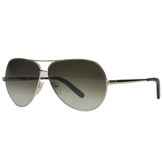 Chloe CE107/S 717 Gold/Olive Aviator Sunglasses - 60mm-10mm-130mm