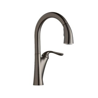 Elkay LKHA4031 Harmony Single Handle Kitchen Faucet with Metal Lever Handle and Pull Out Spray