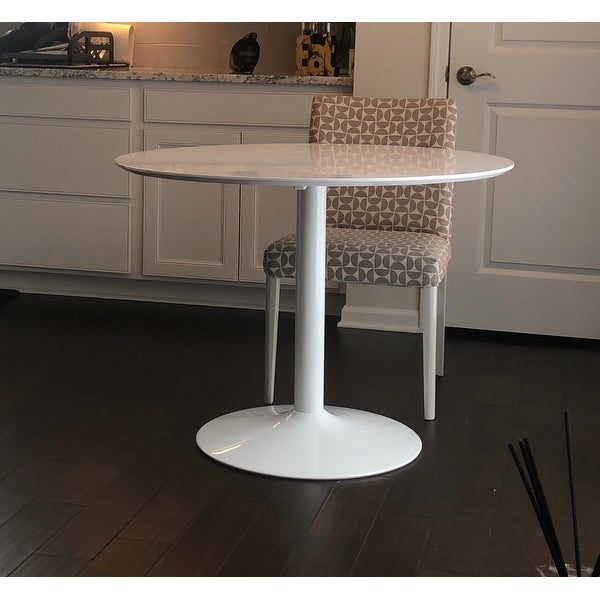 Shop Lowry Mid-century Modern White Round Dining Table ...