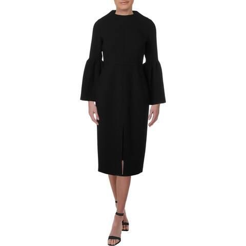 Jill Stuart Womens Midi Dress Bell Sleeves Party