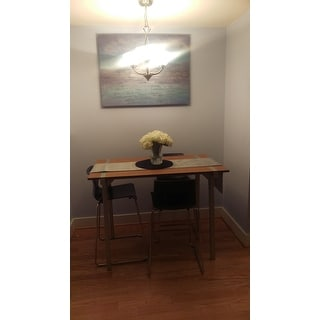 Tabouret Metal and Wood Table