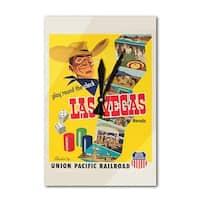 Union Pacific - Las Vegas, Nevada Vintage Poster  (Acrylic Wall Clock) - acrylic wall clock