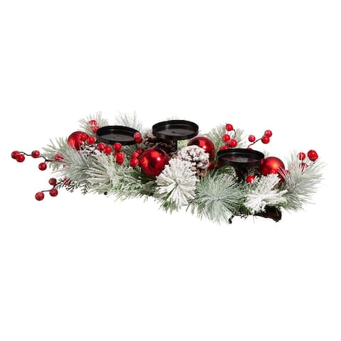 """Glitzhome 24"""" Metal Candle Holder Center Piece"""