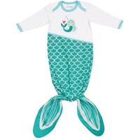 Izzy and Owie Infant's Knotted Mermaid Romper - Newborn - 9 Months One-Piece - 0 - 9 months