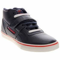 Reebok Mens Workout Mid Strap  Athletic & Sneakers