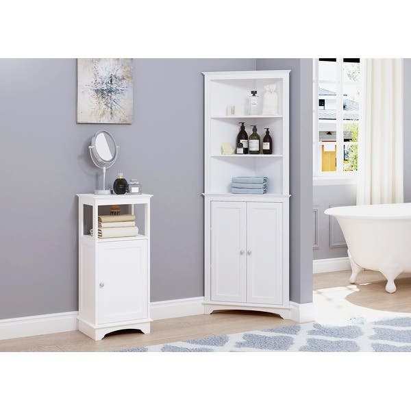 Bathroom Floor Cabinet Spirich Home Tall Bathroom Storage Tower with Drawers White