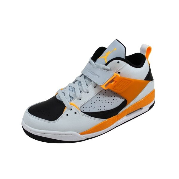 Nike Men's Air Jordan Flight 45 Pure Platinum/Atomic Mango-White-Kumquat 644846-016