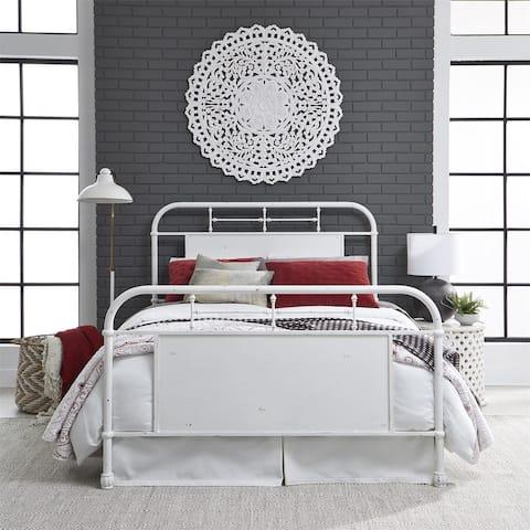 Carbon Loft Cauthen Vintage Series Antique White Queen Metal Bed