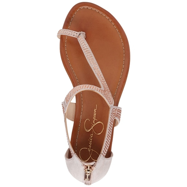 Jessica Simpson Womens Kaarna Open Toe Casual Ankle Strap Sandals
