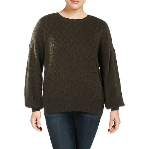 Vince Camuto Womens Plus Pullover Sweater Textured Long Sleeves - 1X