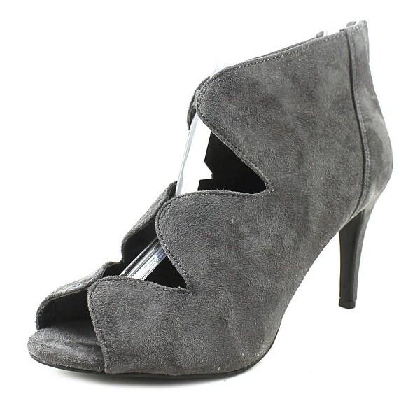 Impo Tyra Women Peep-Toe Synthetic Gray Bootie