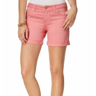 Tommy Hilfiger NEW Coral Pink Women's Size 14 Cuffed Denim Shorts