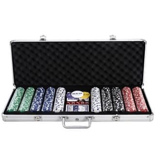 Costway New 500 Chips Poker Dice Chip Set Texas Hold'em Cards W/ Silver Aluminum Case|https://ak1.ostkcdn.com/images/products/is/images/direct/56829820a154d500bd3719b63cecfbebeb0b4c68/Costway-New-500-Chips-Poker-Dice-Chip-Set-Texas-Hold%27em-Cards-W--Silver-Aluminum-Case.jpg?impolicy=medium