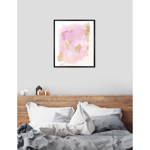 Oliver Gal 'Pink Wednesdays' Abstract Framed Wall Art Print