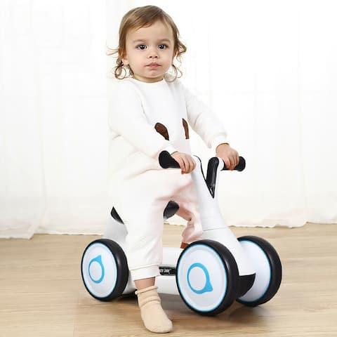 Baby Balance Bike Bicycle Toddler Toys Rides No-Pedal-White - White