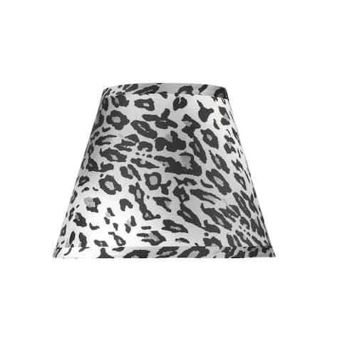 "Aspen Creative Hardback Empire Shape Spider Construction Lamp Shade with Leopard Pattern (5"" x 9"" x 7"")"