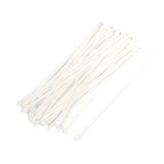 50 Pcs 5.9 Inch Length Fastening Anchor Cable Tie Wrap Off White