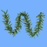 9' Pre-lit Designer Classic Green Artificial Christmas Garland - Clear Lights