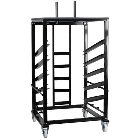 """Cocktail Table Dolly with Sloped Shelves for 30"""" Round Tables - 34.5""""W x 28.75""""D x 62.5"""" - 79.5""""H"""