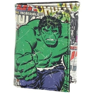Marvel Mens Hulk Trifold Wallet Faux Leather Graphic - o/s