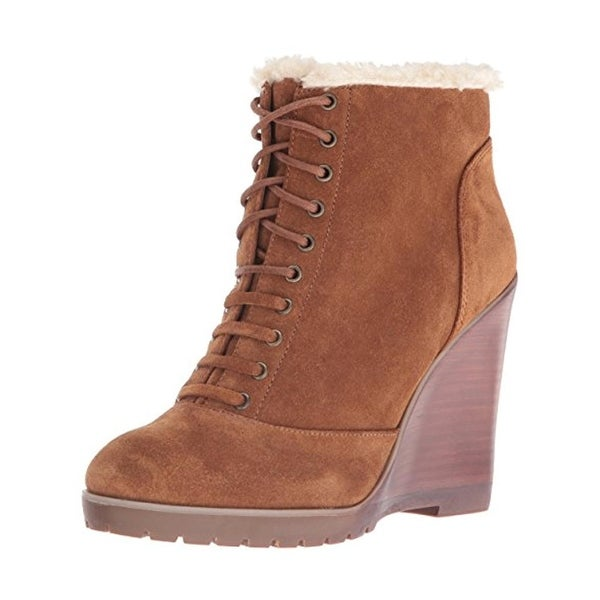 Jessica Simpson Womens Kaelo Wedge Boots Faux Fur Lined Faux Fur