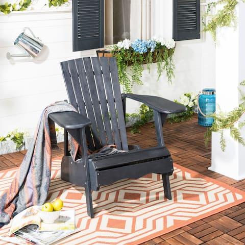 SAFAVIEH Mopani Dark Slate Grey Acacia Adirondack Chair
