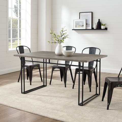 Carbon Loft 60-Inch Modern Metal Leg Table