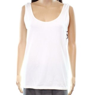 Context NEW White Womens Size Small S Scoop Neck Stretch Tank Top