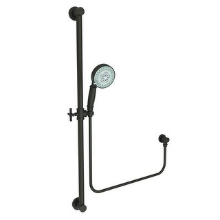 Newport Brass 280F Multi-Function Hand Shower Package with Slide Bar, Hose, and