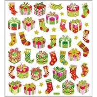 Glitter Presents - Multicolored Stickers