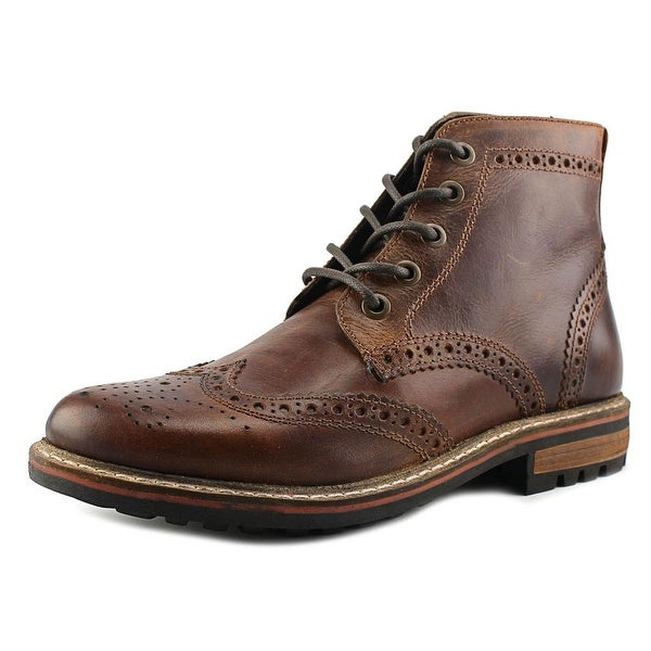 Crevo Speak Easy Men  Round Toe Leather Brown Boot