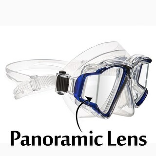 Ivation Snorkel Mask - Panoramic Lens Frameless Diving Mask - Perfect for Scuba Diving, Snorkeling & Swimming