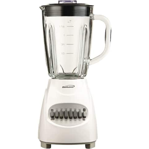 BRENTWOOD BTWJB920WW Brentwood Jb-920w 12-speed Blender With Glass Jar