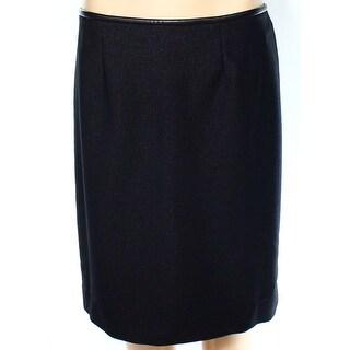 Calvin Klein NEW Black Women's Size 12P Petite Stretch Knit Skirt