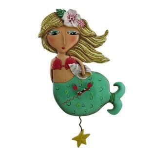 Allen Designs Shelley Mermaid Starfish Pendulum Wall Clock