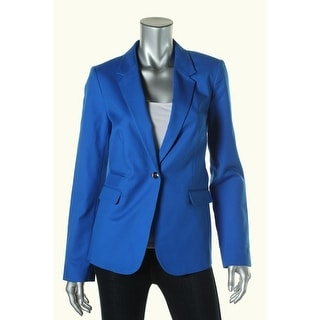 Vince Camuto Womens Lined Notch Collar One-Button Blazer