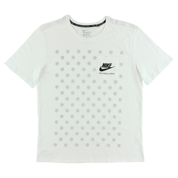 800e5e217 Shop Nike Mens International Pocket T Shirt White - White/Light Grey ...