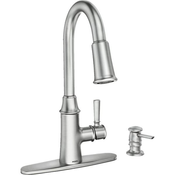 Moen 87402srs Caris One Handle Pull Down High Arc Kitchen Faucet Stainless
