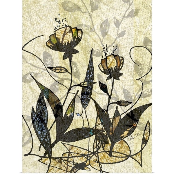 """Pen Drawn Patterned Floral"" Poster Print"