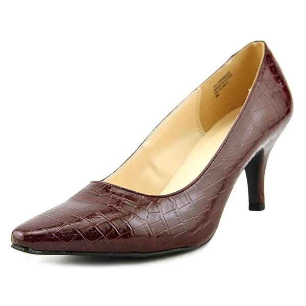 Karen Scott Clancy Women Pointed Toe Synthetic Burgundy Heels