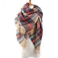 Classic Autumn And Winter Plaid Scarves