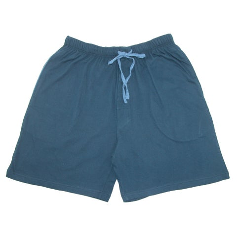 Hanes Men's Jersey Knit Cotton Button Fly Pajama Sleep Shorts