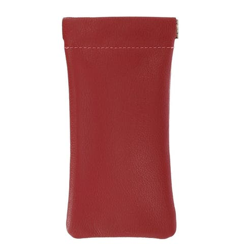 CTM® Leather Eyeglass Holder and Case - one size