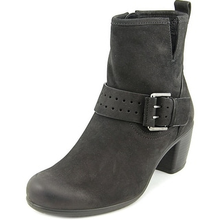 Ecco Panama Round Toe Leather Ankle Boot
