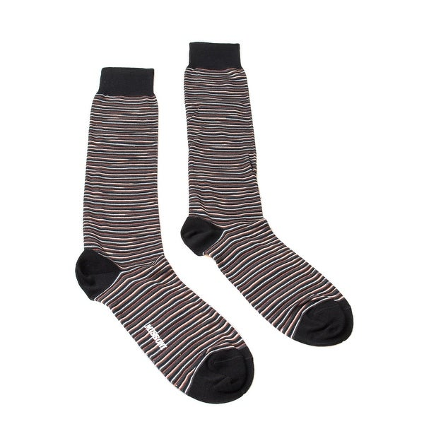 Missoni GM00CMU4655 0001 Black/Orange Knee Length Socks