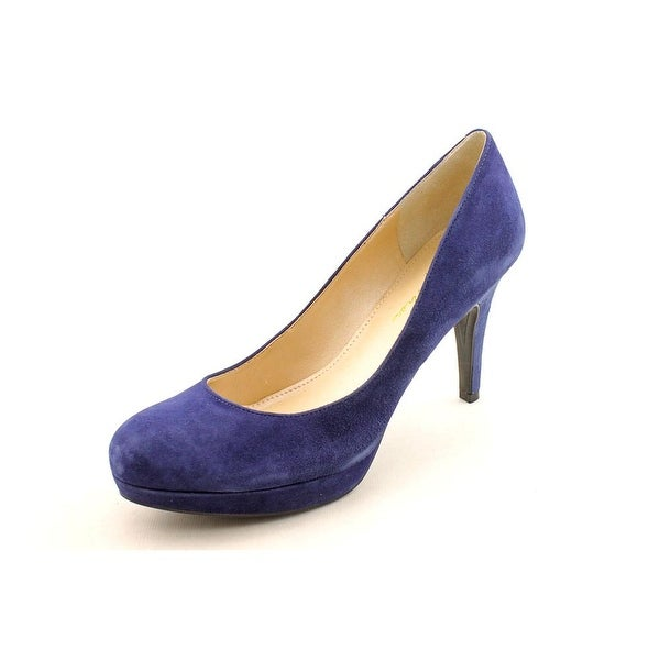 Marc Fisher Sydney Women Round Toe Suede Blue Heels