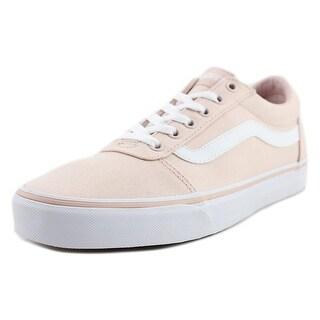 Vans Ward Women Round Toe Canvas Pink Skate Shoe