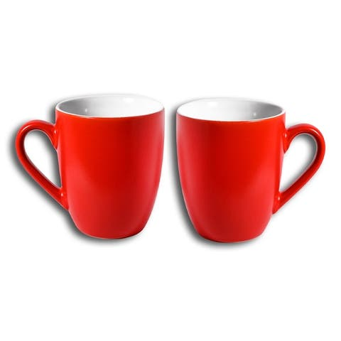 Homvare Porcelain Coffee Mug, Tea Cup, 10 oz - 2-Pack