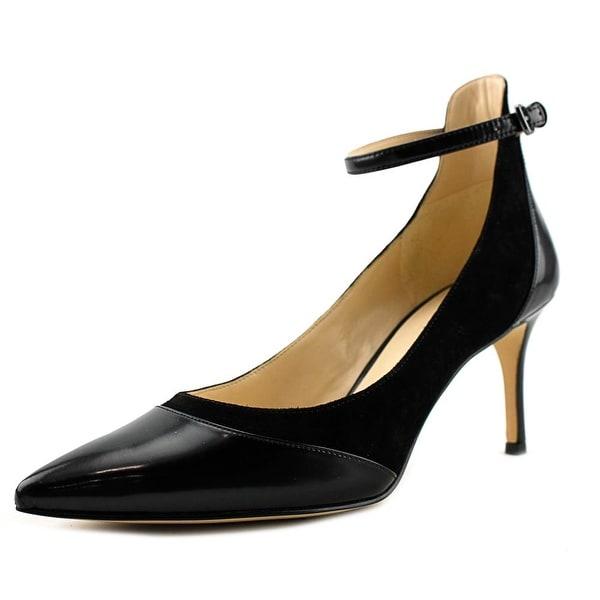 Nine West Morrisa Women Pointed Toe Suede Black Slingback Heel