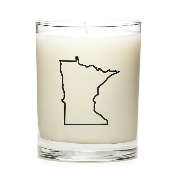 State Outline Candle, Premium Soy Wax, Minnesota, Fresh Linen